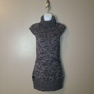 Cap-sleeved, cowl neck sweater dress, Sz M
